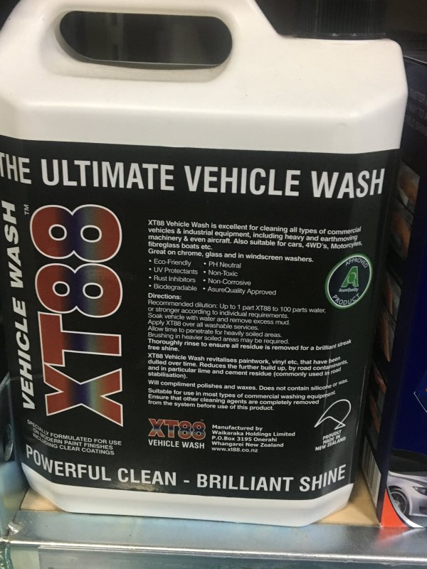 XT88 Vehile Wash 5L