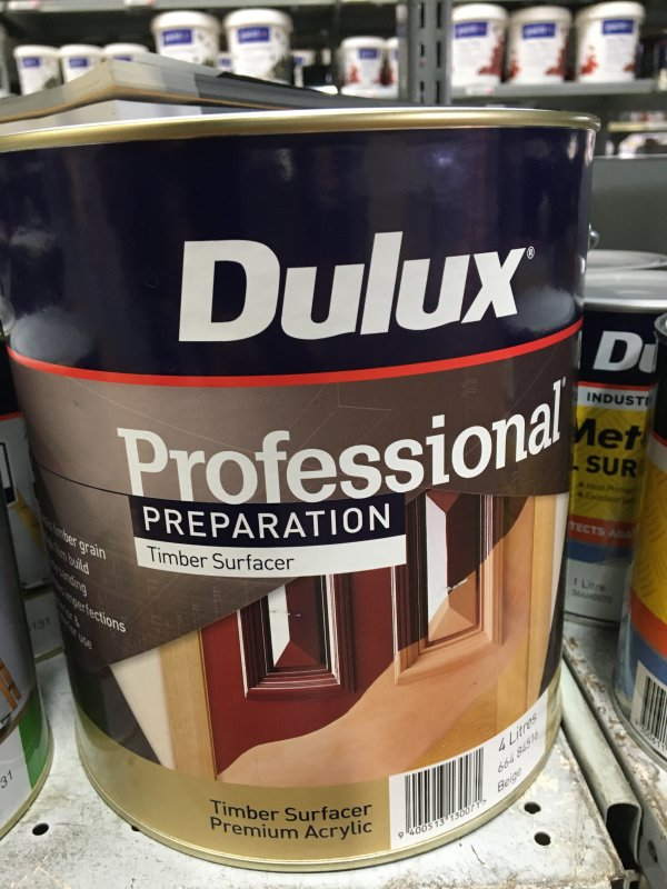 DU PRO PREP TIMBER SURFACER ACRYLIC 4L